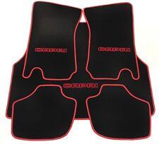 Autoteppich Fußmatten Kofferraum Set für Ford Capri 2 - 3  schwarz rot 5tlg neu
