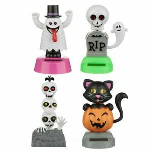 SOLAR POWERED SWAYING HALLOWEEN  FIGURES VARIOUS TYPES DASHBOARD TOY