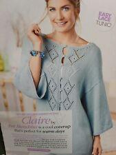 Lace Front Tunic Cardigan Knitting Pattern