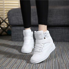 Fashion Hidden Wedge Heel Women's Casual High Top Sport Sneakers Running Shoes