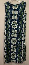 Vtg Mark Yamanaka Womens  Dress Okolehao Hilo, Hawaii Size Medium Green