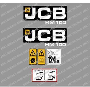 JCB HM100 HYDRAULIC BREAKER DECAL STICKER SET