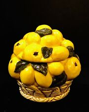 Vintage Lemons Cookie Jar ceramic Yozie Mold rare 1960's Excellent Condition