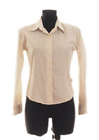 *** BARBOUR *** Women's Beige striped long sleeved Casual Shirt Size 10