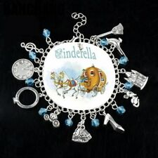 NEW Cinderella Silver Plated Charm Bracelet - Perfect Gift