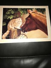 Leanin' Tree Thanks Greeting Card with Horse & Cat