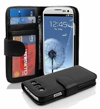 PU Leather Black Book Flip Case Cover Cards Slot For Samsung Galaxy S3 i9300