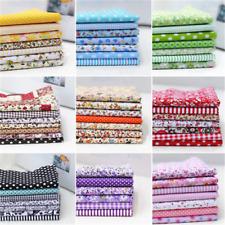 7 piece Assorted Pre-Cut Fat Quarters Bundle Charm Cotton Quilt Fabric 25/50cm