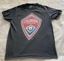 COLORADO RAPIDS - MLS Soccer Men's Official License Shirt Large Charcoal Gray