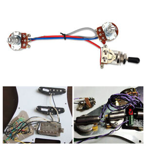 Guitar Prewired Wiring Harness for Fender Tele Parts 3 Way Toggle Switch
