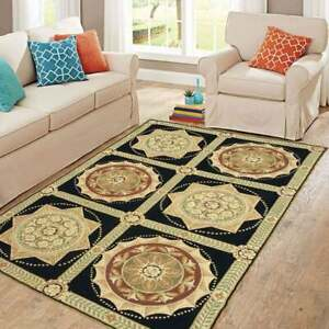 6x4 feet Vintage French style Aubusson Rug,Needlepoint Wool Rug,12207