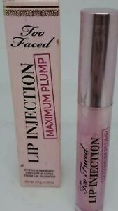 Too Faced Lip Injection Maximum Plump Extra Strength Lip Plumper New In Box.