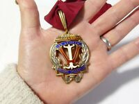 1943 VALUERS INSTITUTE Silver & Enamel PRESIDENT Collar Jewel Medal #VI1