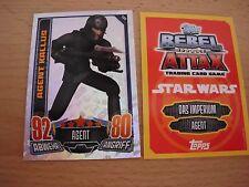Topps Star Wars Rebel Attax1,1StarWars Glitzer-Karte Nr.184Agent Kallus,rot/gelb