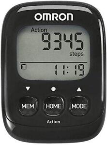 Omron HJ325-EBK Walking Style IV Step Counter Pedometer Accurate 3D Sensor BLACK