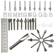 "10x 1/8"" 40mm Shank HSS Carpentry Router Wood Cutter Bit For Dremel Rotary Tool"
