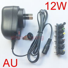 12W AU plug AC/DC Universal power adapter 3V/4.5V/5V/6V/7.5V/9V/12V 1A 1.2A New