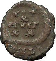 Arcadius 383AD Authentic Original Ancient Roman Coin Rare Wreath  i30839