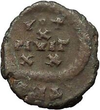 Arcadius 383AD Authentic Original Ancient Roman Coin Rare Wreath  i30839