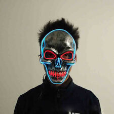 Light Up LED Mask Skull Skeleton Mask Guy Fawkes For Anonymous Haloween Party
