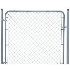 YARDGARD Chain Link Fence Gate 6 ft. W x 4 ft. H Adjustable Walk-Through Metal