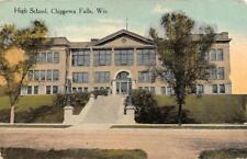 CHIPPEWA FALLS, WI Wisconsin    HIGH SCHOOL  Chippewa County   1916 Postcard