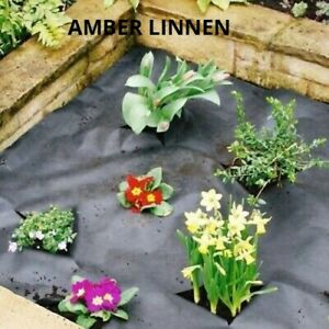 Weed Control Fabric Ground Cover Garden Liner Barrier 50GSM Black 8x1.5M