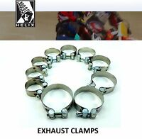 Helix Racing Products Stainless Steel Exhaust Muffler Clamps  Honda Motorcycle