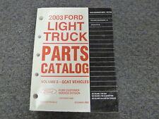 2003 Ford Explorer SUV Parts Catalog Manual Book XLS XLT NBX Eddie Bauer Limited