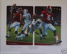 Alabama vs Auburn 2014 Iron Bowl The Game Changers print signed by Daniel Moore