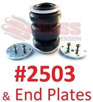 BOSS #2503 Triple Air Bag & end plates airbag suspension load assist dump kit