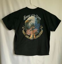 Harley's for Heroes Home Of The Free Because Of The Brave T-Shirt Size XL