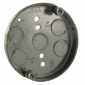 Hubbell-Raco 295 1/2-Inch Deep 1/2-Inch Bottom Knockouts 4-Inch Round Ceiling Fa