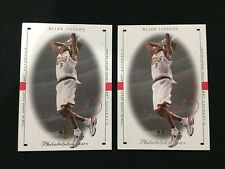 (2) ALLEN IVERSON SP 1999 SIXERS BASKETBALL CARDS