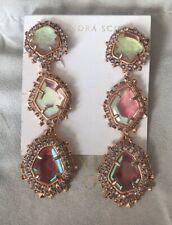 NWT Kendra Scott Aria Earrings Rose Gold/Blush Dichroic $250.00