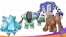 SHINY 6IV TITAN Pack Regirock Regice Registeel Regigigas Pokemon SUN MOON Legend