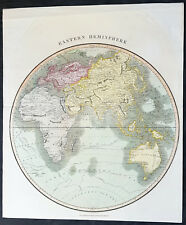 1815 John Thomson Large Antique Map Eastern Hemisphere, New Holland, Cpt. Cook