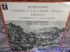 Mendelssohn & Schumann Otto Klemperer Philharmonia Orchestra EMI Angel LP Canada