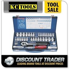 """ProAm by KC Tools 39 Piece 1/4"""" & 3/8"""" Drive Socket Set Metric / Imperial 10100"""