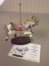 Free Shipping! Franklin Mint 1988 Treasury Of Carousel Porcelain Jumper Horse