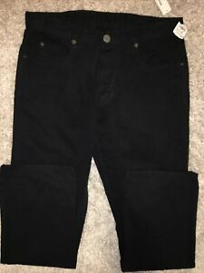 JAMES PERSE 32 X 30 Black MEN'S 5-POCKET CANVAS Cotton USA PANTS