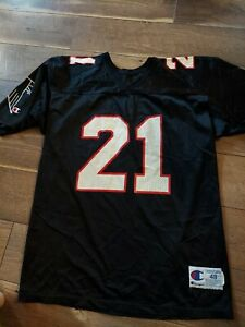 Vintage Deion Sanders Jersey Champion Size 48 Atlanta Falcons #21 NFL