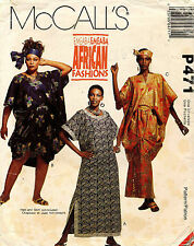 VTG McCall's Emeaba African Fashions Misses' Caftans and Tunic Pattern P471