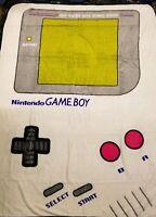 "Nintendo Gameboy Game Boy Super Plush Soft Throw Blanket 48"" x 60' Bioworld New"