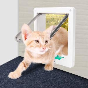 Katzenklappe Haustierklappe Hundeklappe Katzentür Magnet-Verschluss Mikrochip