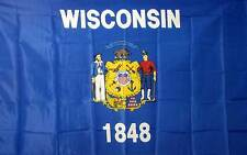 Wisconsin State 3x5 Flag 3 x 5 Usa New Banner!