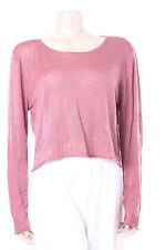 New Ladies Brown Top Kokomarina Jumper Designer Top Size M Silk & Cashmere
