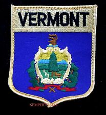 VERMONT US STATE FLAG LOGO SHIELD HAT PATCH VT UNITED STATES USA PIN UP GIFT