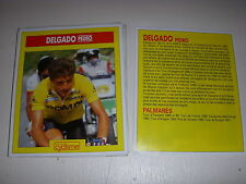 CYCLISME COUPURE 12x10 MIROIR du CYCLISME Pedro DELGADO PDM MAILLOT JAUNE