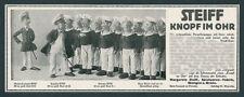orig. Reklame STEIFF Puppen Kaiserliche Marine SMS Niobe Spielwaren Giengen 1911